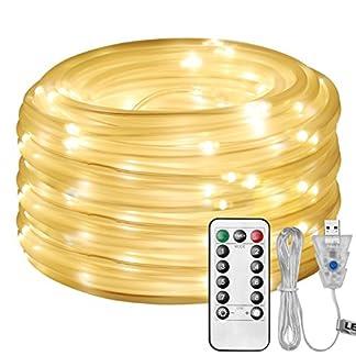 LE Cadena de Luces LED, 10m 100 LED 8 modos, USB Exteriores