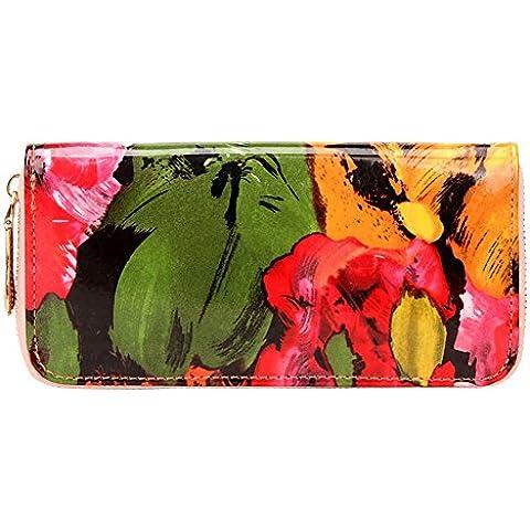 monedero de impresión retro/patrón de cocodrilo cartera con cremallera/carpetas de las mujeres/monedero/carpeta larga