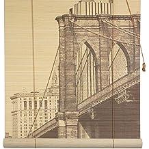Muebles Orientales del puente de Brooklyn de bambú persiana, 182,88 cm extra anchos para hombre