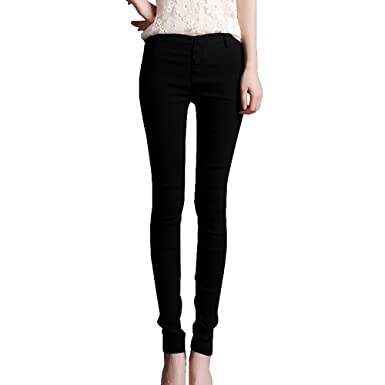 WOMENS HIGH WAISTED SKINNY JEANS JEGGINGS LADIES Slim STRETCHY PANTS UK SIZE 12