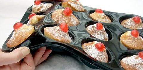 Muffinblech für 12 Muffins, strapazierfähiges Silikon mit Antihaftwirkung, 10 Jahre