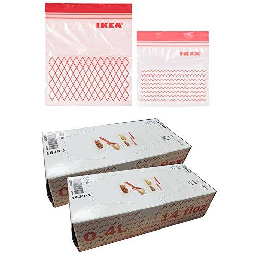Ikea ISTAD Kunststoff Gefrierschrank Tasche, rote 120Pack
