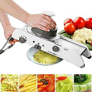 Valigrate Mandoline Slicer Manual Vegetable Cutter Professional Grater + AdjustableCutter Vegetable Slicer Manual Kitchen Food Cutter Zerkleinerer Julienne zum Mahlen Slicing Fruit