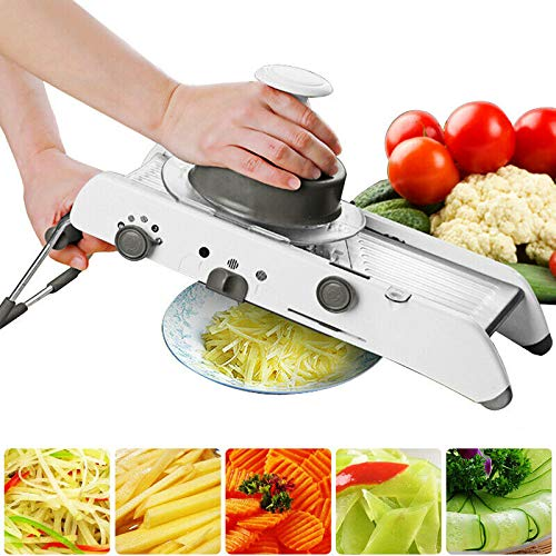 Mandoline Cutter (Delidraw Mandoline Slicer Manual Vegetable Cutter Professional Grater + AdjustableCutter Vegetable Slicer Manual Kitchen Food Cutter Zerkleinerer Julienne zum Mahlen Slicing Fruit)