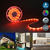B.K.Licht – LED Stripes 5m – Lichterkette - Lichtleiste Band - Lichtschlauch mit Farbwechsel Inkl. Fernbedienung – RGB LED Streifen Leiste selbstklebend IP20/IP44