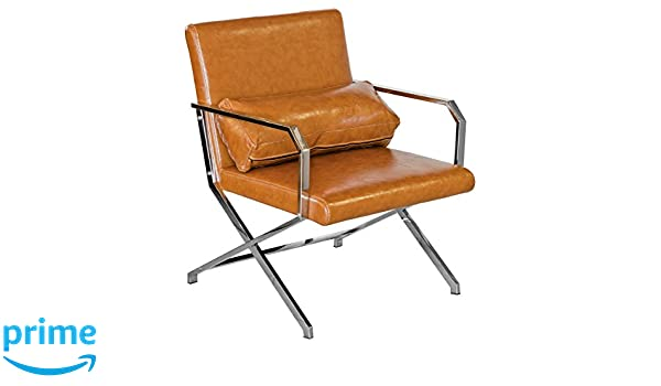 66x64x83 cm Febland Tan Martello Executive Leisure Chair Faux Leather