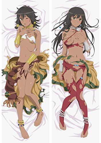 Kcogh - is It Wrong to Try to Pick Up Girls in a Dungeon Amazon Tiona Hiryute 2 Way Tricot 160 x 50cm(62.9in x 19.6in) Kissenüberzug