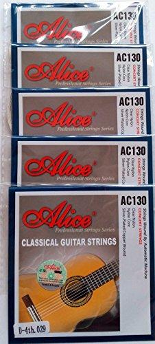 5x Klassische Gitarre Saiten einzeln D 4. Saite Nylon Normal Tension