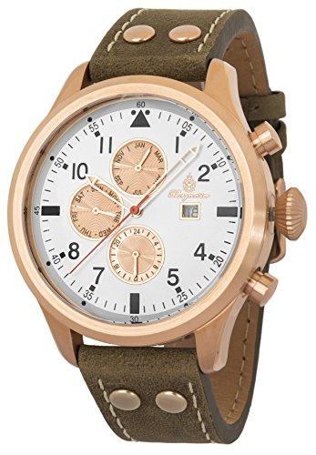 Burgmeister Reloj Hombre de Analogico con Correa en Cuero BM227-315