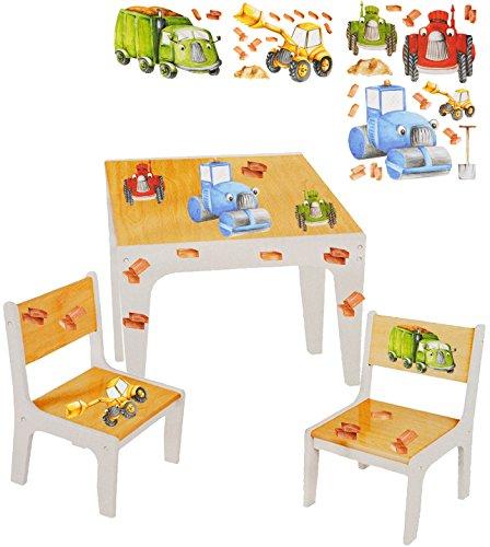 3 tlg. Set: Sitzgruppe / Sitzgarnitur für Kinder - sehr stabiles Holz -