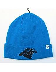 Carolina Panthers sur champ bleu pliable Bonnet tricot bonnet NFL