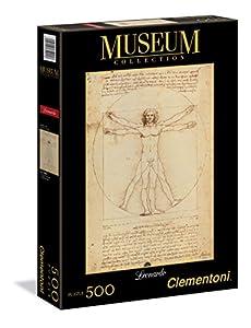 Clementoni - Puzzle de 500 Piezas, Museos, diseño Leonardo: Hombre Vitruviano (350018)