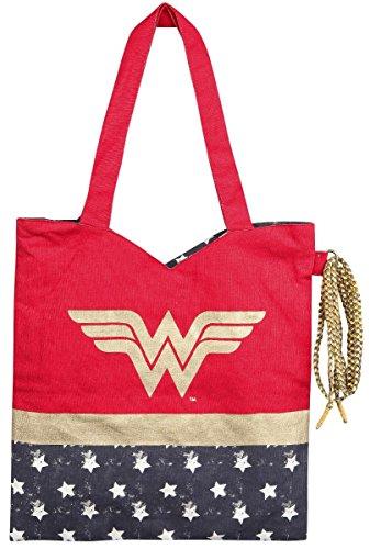 Wonder Woman Kostüm Shoppingbag (Kostüme Navy Womens)
