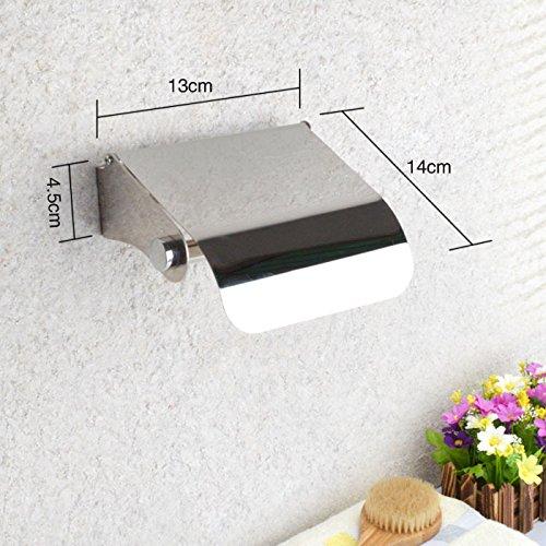 Albergo Vassoio rotolo di supporto di carta igienica da bagno Servizi porta asciugamani, acciaio inossidabile 13 * 14 * 4.5cm