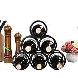 JASNO 6 Flaschen Wein Regal Quadratische Röhre 6 Runden, Weinflaschen Halter Freistehendes Metall-Wein Lager, 2-Wege-Speicher Eisen Schwarz