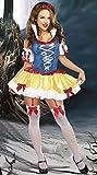 Damen 4 Stück Sexy Schneewittchen-Kostüm-Kleid Größe 38 Kleid Armlinge und Stirnband