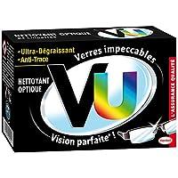 VU - Lingettes Nettoyant optique Ultra Dégraissant et Anti Trace- Etui de 24 Pochettes