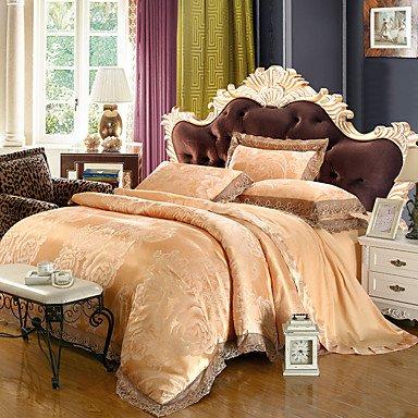 AIURLIFE Tejido Tencel Jacquard satinado camas modelos boda Suite 4 1.5M-1.8M/2.0M , queen