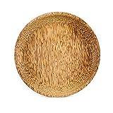 studio TR | Teller rund Kokos-Holz (Ø 18,5 cm x H 1,5 cm) Frühstücksteller für Obst, Brot, Brötchen, Gebäck, Süßigkeiten oder als Dekoration - fairtrade, nachhaltig, handgemacht, ungefärbt, lebensmittelecht, plastikfrei, umweltfreundlich und verkauft mit 100% Transparenz bei Preis und Produktion