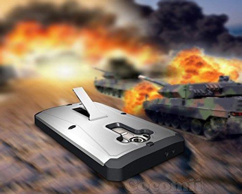 Cocomii Tank Armor LG G4 Funda [Robusto] Superior Incorporado Protector De Pantalla Soporte Antipolvo Antichoque Caja [Militar Defensor] Cuerpo Completo Sólido Case Carcasa for LG G4 (Ta.Silver)