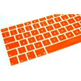 "PicknBuy UK Orange Keyboard Silicone Skin Cover use for Apple Macbook Air (13"") and Macbook Pro (13"", 15"", 17"") inch Laptop computer"