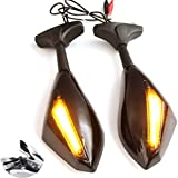 TUINCYN universelle Motorrad-Front- und Rückspiegel mit integriertem LED-Blinkeranzeige