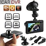 Voberry Dash Cam, 2,7 'Full HD 1080P Auto DVR Fahrzeug Kamera Video Recorder Dash Cam G-Sensor Schwarz