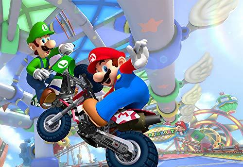 Gemälde Super Mario Bros Poster Luigi Mario Wand Aufkleber Wandbild Büro Aufkleber Kinder Schlafzimmer Wallpaper (B)300*(H)210cm pro