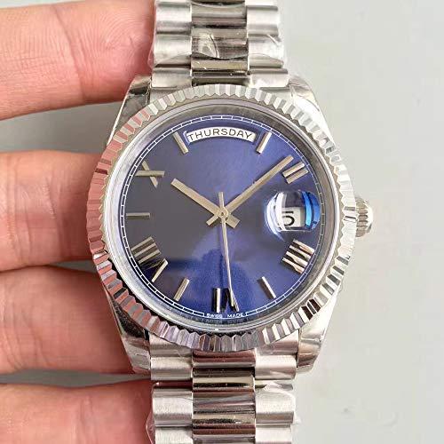 CWTCHY Luxusuhr Tag Datum mechanische 40mm Uhr automatische mechanische Uhr Edelstahlarmband Armbanduhr
