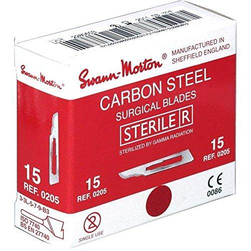 SwannMorton Skalpell-Klingen, Gr.15, steril