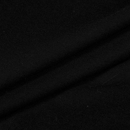 Amlaiworld Femmes Automne hiver Une épaule Cocktail am Abend Party Minikleid Noir