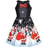 Best Richie House Dress For Kids - Sunny Fashion Girls Dress Black Christmas Santa Snow Review