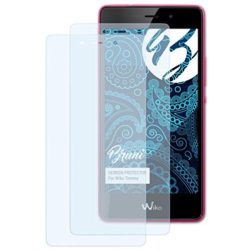 Bruni Schutzfolie kompatibel mit Wiko Tommy Folie, glasklare Bildschirmschutzfolie (2X)
