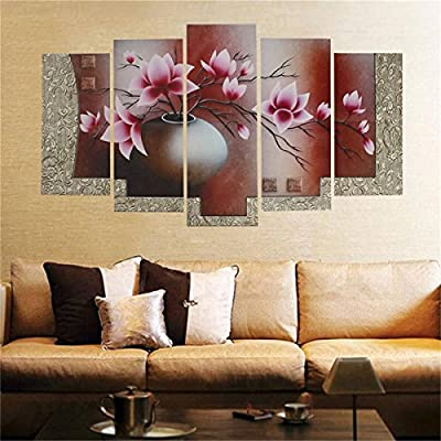 KING DO WAY 5 Panel Oil Print On Canvas Wall Painting Artwork Home Office Art Decoration