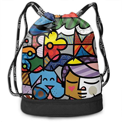 DSGFSQ Sporttaschen Turnbeutel Funny Dance Gift Unisex Drawstring Fashion Beam Backpack Cat Fisher Print Backpack Travel Gym Tote Cosmetic Bag