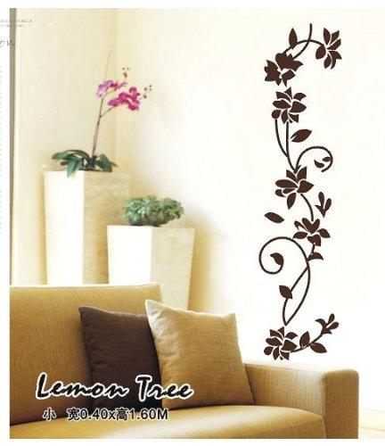 zooarts negro flor vid extraíble pegatinas de pared de vinilo Adhesivos Arte decoración hogar sala Mural