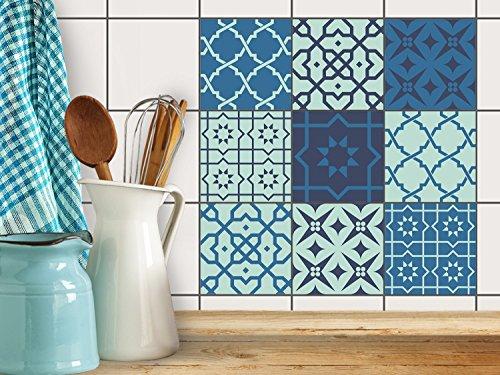 Piastrelle Bagno adesiva pellicola | Adesivi per mattonelle cucina - Mosaico Talavera Portoghesi | adesivo (Ceramica Talavera)