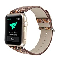 ‏‪Single Tour Leather Band Bracelet Watchband For Apple Watch Series 1/2 38MM C‬‏
