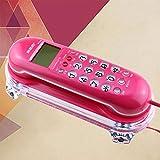 High-End-atmosphärisches antikes Telefon, Wand-Telefon Retro-Mode Kreative Festnetz Home Hotel Nacht kleine Telefon-Erweiterung WYQLZ ( Farbe : Pink )