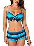 Dokotoo Sexy Bikini Push Up Maillot de Bain Femme 2 Pièces Soutien-Gorge avec Short...