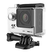 PNJ CAM SX60 Caméra sport Ultra HD 4K - 4K 25ips / 2,7k 30ips - Full HD 1080p 60ipsv - Capteur CMOS 12MP - Fonction WiFi - Ultra grand angle 170° - Ecran LCD intégré 2'' - Caisson étanche jusqu'a 30m - Batterie 1050 mAh - Port micro USB / micro SD / ...
