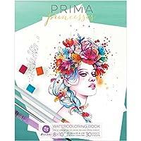 Prima Marketing 591052Acuarela Libro para Colorear, Multicolor, 8x 25,4cm
