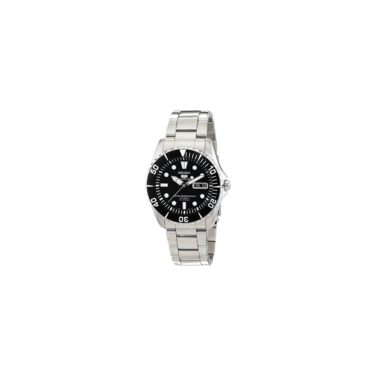 51XssAyZ8IL. SS1200  - Seiko Reloj Analógico Automático para Hombre con Correa de Acero Inoxidable - SNZF17K1