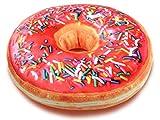 Alsino Donut Kissen Doughnut Dekokissen Ki-d07 Sitzkissen Donutkissen | Durchmesser: 40 cm | Bunte Streusel von Alsino