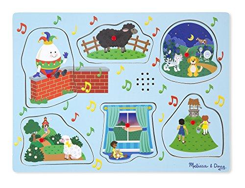 Melissa & Doug Soundpuzzle aus Holz - Kinderreime 3 (6 Teile)