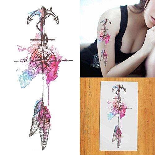 cokohappy-temporare-tattoo-kompass-anker-feder-navigator