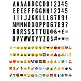 175 Letter Number Emoji Pack Set For Cinematic Plaque A3 A4 Light Up Box Sign