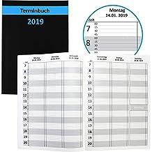 sigel c1980 tischkalender 2019 ca 30 x 14 cm hardcover schwarz conceptum