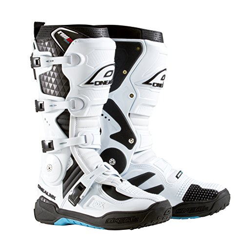 O'Neal RDX Boot MX Stiefel Motorrad Enduro Motocross Offroad Schuhe, 0328, Farbe Weiß, Größe 46 -