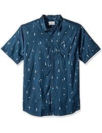 Billabong Hombres M508PBSM Manga Corta Camisa de Botones